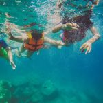 nadando en la isla espiritu santo